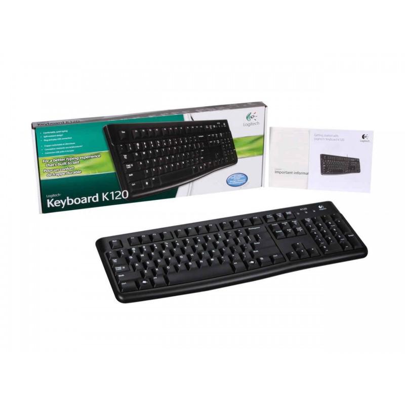 buy logitech k120 wired standard usb keyboard black from. Black Bedroom Furniture Sets. Home Design Ideas