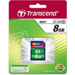 8GB SDHC Memory Card TS8GSDHC4 Transcend