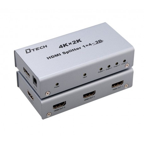 Buy DTECH DT-7144 4K 1 TO 4 HDMI SPLITTER from www dannycomputers net