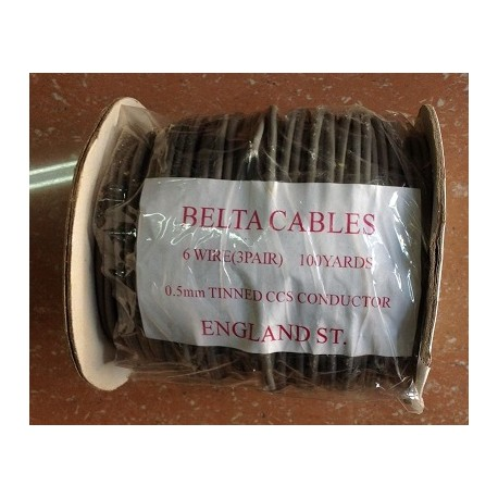 Buy Belta Telephone Cables 6 Wire ( 3 Pair) 100 Yards 0.5mm TINNED ...