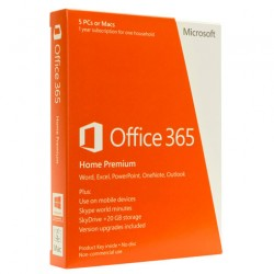 Microsoft 6GQ-00016 – Office 365 Home Premium 32/64 Medialess English 1yr Subscription (5PCs)