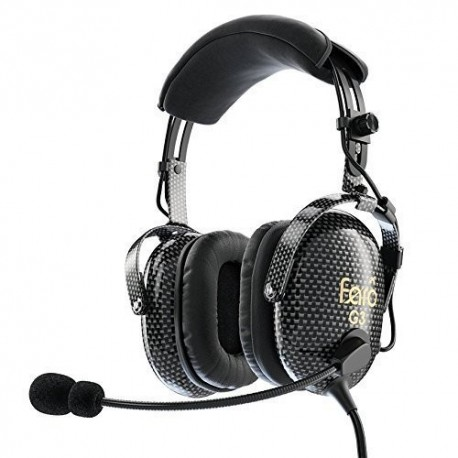 911897b93be FARO G3 ANR Aviation Headset Active Noise Reduction Carbon Fiber Premium Pilot  Headset with Bluetooth