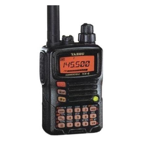 Tri-Band Yaesu VX-6R Submersible Amateur Ham Radio Transceiver