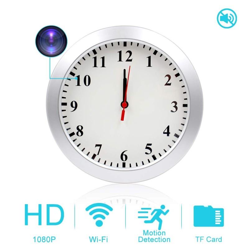 e6d8a2ea3e57 AMCSXH HD 1080P WiFi Hidden Camera Wall Clock Spy Camera with Motion  Detection