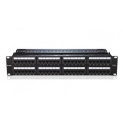 D-LINK 48 PORT CAT6-2U PATCH PANEL NPP-C61BLK481 Fully Loaded